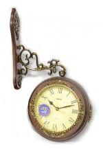 Настенные часы двусторонние на кронштейне 33*15*33 см